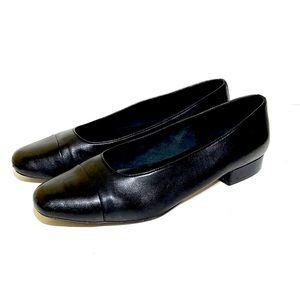 Van Eli Frankie Black Soft Leather Flats 11.5M